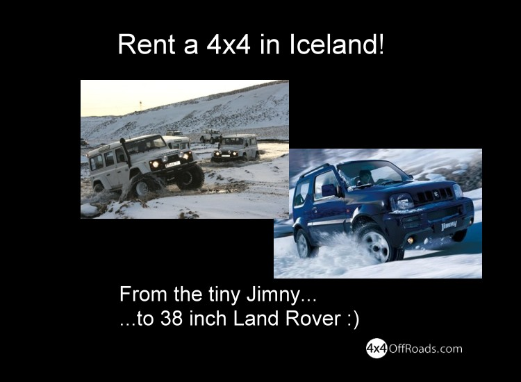 Rent a 4x4 truck in Iceland
